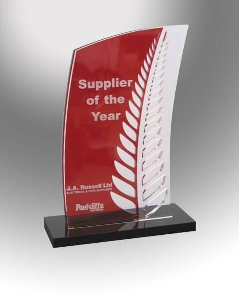 Fern acrylic trophy