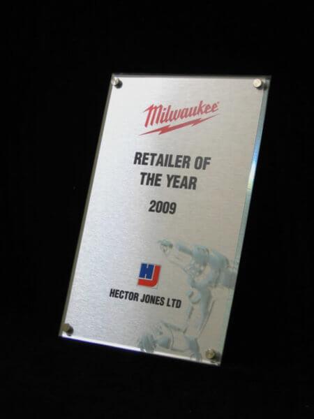 Clear acrylic plaque
