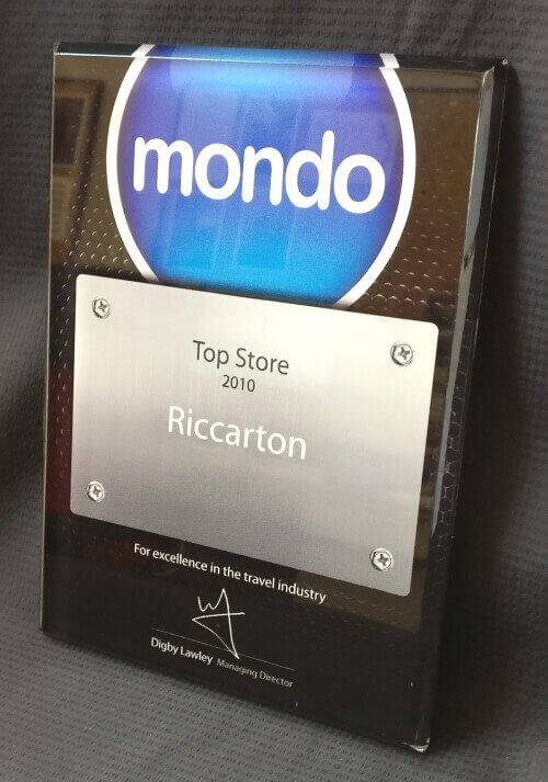Clear printed plaque