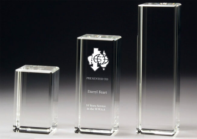 Crystal pillar awards