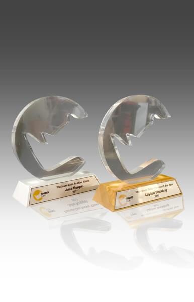 Custom trophies acrylic