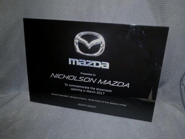 Custom opening plaque