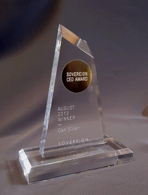 Peaked acrylic award