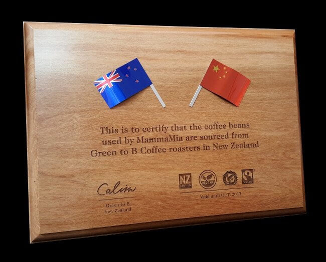 Custom plaque with flags