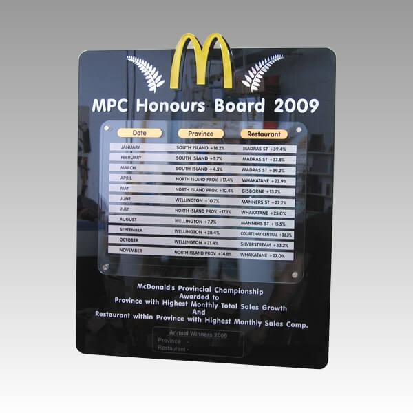 Custom plaque - Acrylic