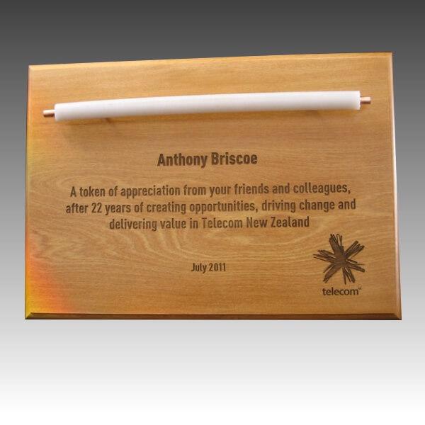 Custom plaque - wood