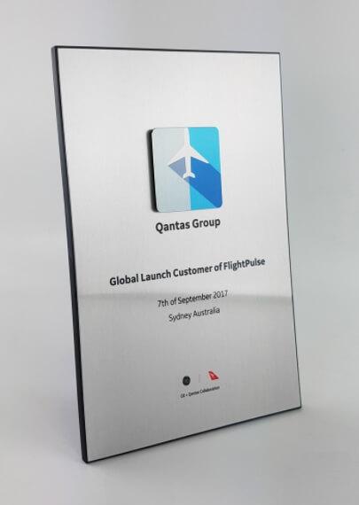 Aluminium plaque