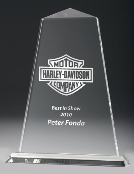Crystal obelisk trophy