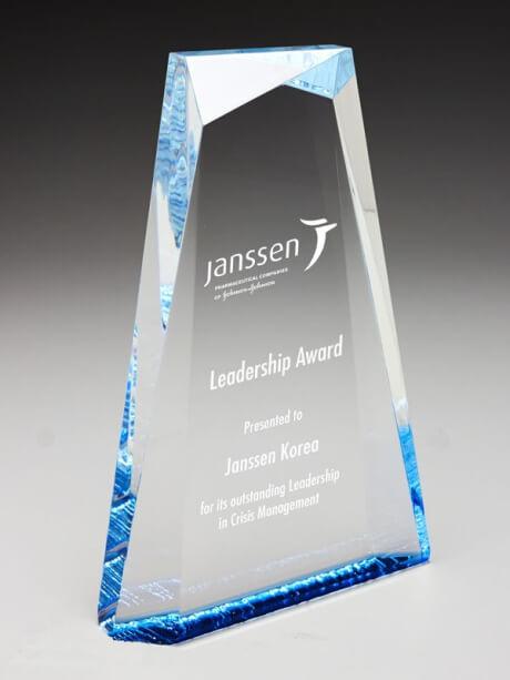 Acrylic water trophy