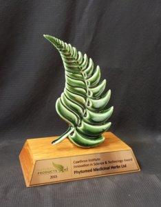 Green fern trophy
