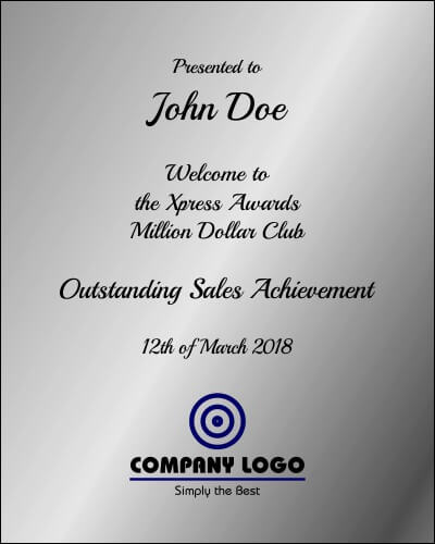 Trophy Wording and Plaque Wording | Xpress Awards Auckland NZ