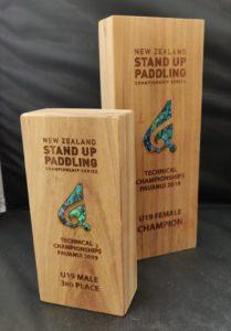 custom paua inlay trophy